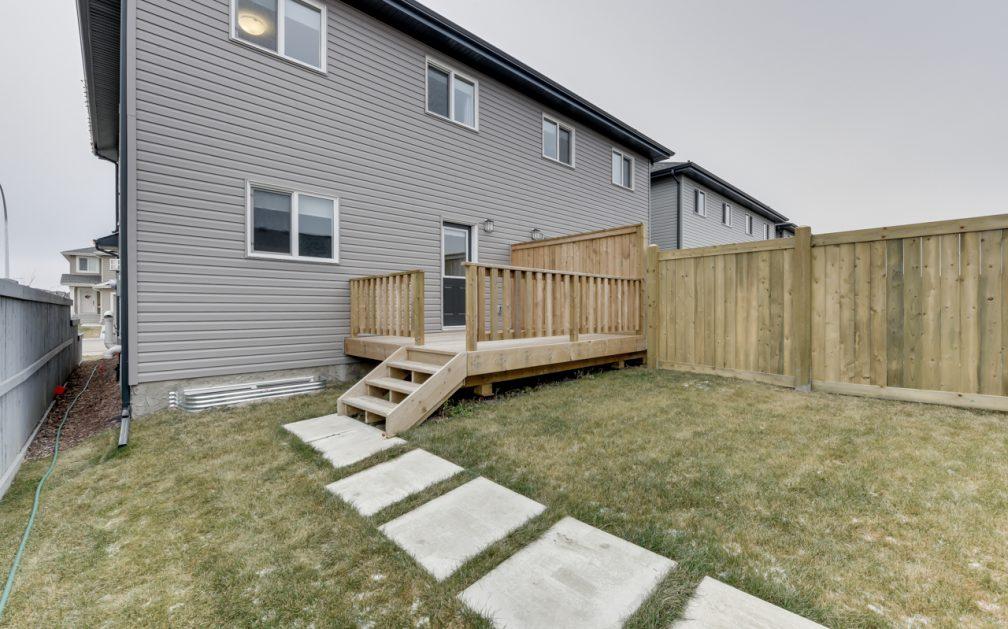 The Evoke Duplex, Fort Saskatchewan, Southfort Ridge, Large Rear Deck