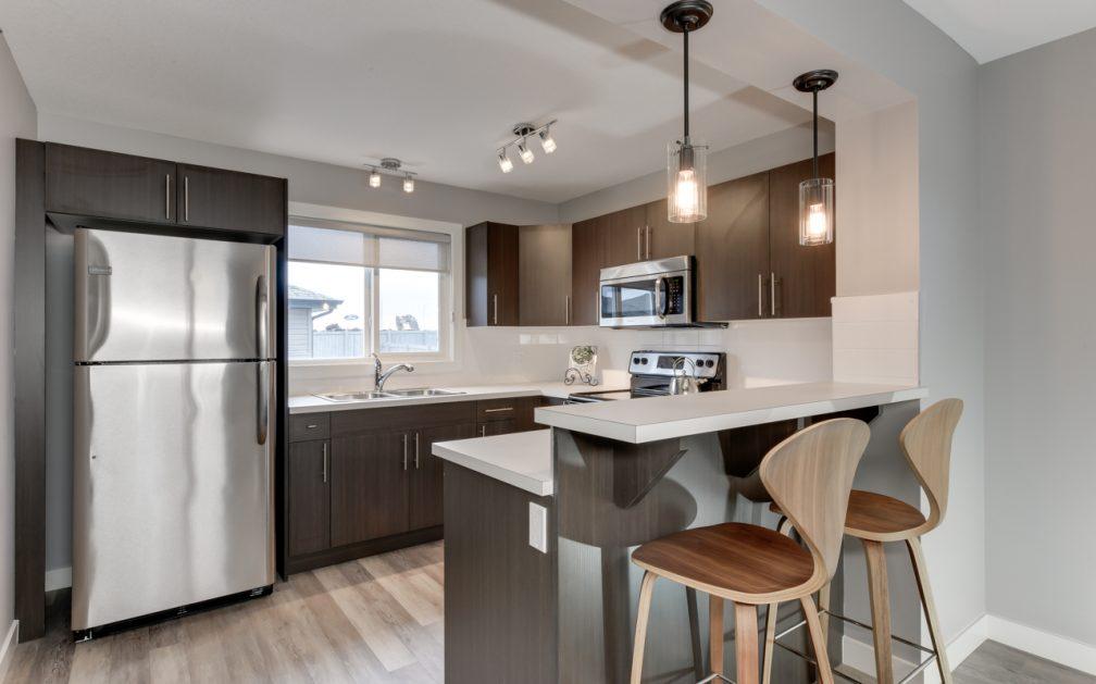 The Evoke Duplex, Fort Saskatchewan, Southfort Ridge, Kitchen 1